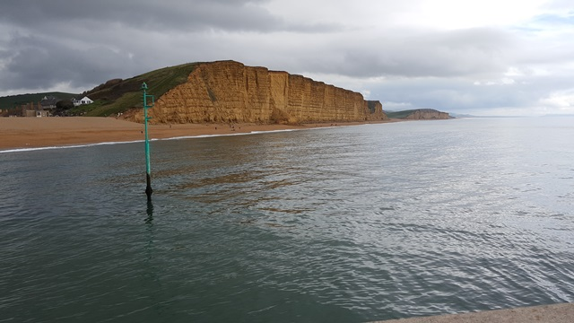 The cliffs at West Bay